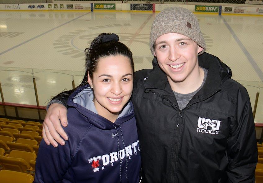 Owen Headrick cheered on his sister, Jana, and her University of Toronto Varsity Blues teammates at the U Sports Cavendish Farms women's hockey championship in Charlottetown.  - SaltWire Network