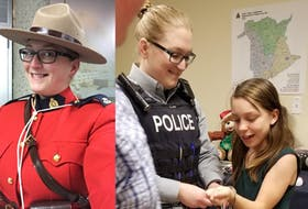 Cst. Jessica Legouffe is one of the members of the Sussex RCMP detachment who takes part in the Shop with a Cop program, where officers and children go out together to do some Christmas shopping. - Photo Contributed.
