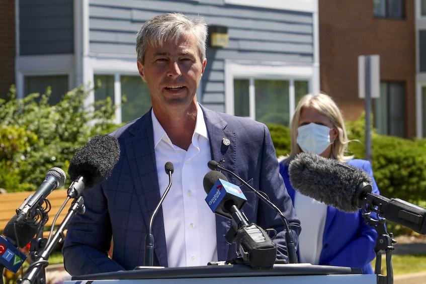 Nova Scotia Progressive Conservative Leader Tim Houston said the COVID19 pandemic must remain the focus for the immediate future. - Eric Wynne