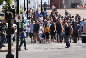 The families of the Nova Scotia mass shooting in April hold a march of thanks Wednesday after public inquiry was called. ERIC WYNNE/Chronicle Herald