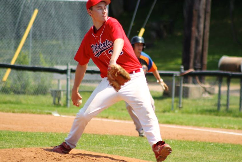Bradley Fuller, the junior Wildcats' starting pitcher in the first game of a Sunday doubleheader with Halifax, pitched a complete game but failed to get the decision when the game ended in a 6-6 tie.