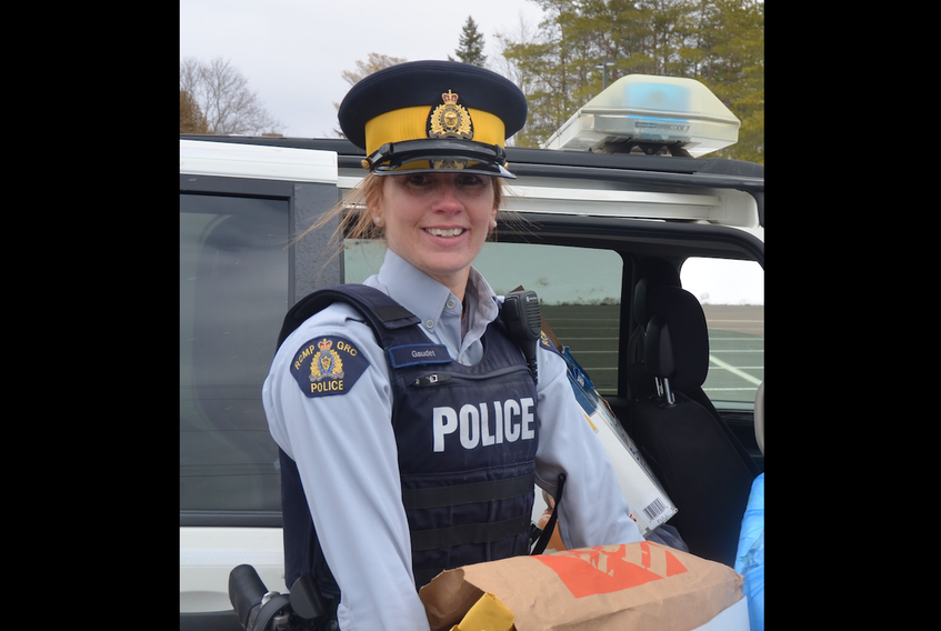 Kings District RCMP Cst. Kelli Gaudet is a familiar face to many in the community, and has delivered presentations informing the public on various issues relating to crime. She gave a presentation on human trafficking May 16 at the Berwick Baptist Church.