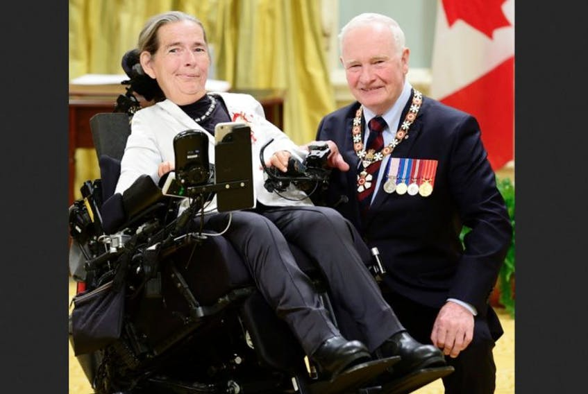 On Nov. 18, Governor General David Johnston presented the Officer of the Order of Canada insignia to Catherine Frazee, who lives near Canning, at ceremonies in Ottawa. She was appointed for her advancement of the rights of persons with disabilities, and as an advocate for social justice.
