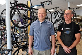 Bill Harvie and Doug McDougall of Kentville's Valley Stove and Cycle shop say awareness is the biggest barrier to safe cycling in Kings County, and that once this increases, dangers will decrease.