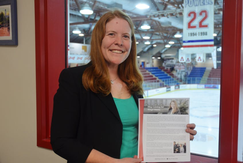Meg Cuming of Greenwich is seeking the Kings-Hants Liberal nomination for the upcoming federal election.