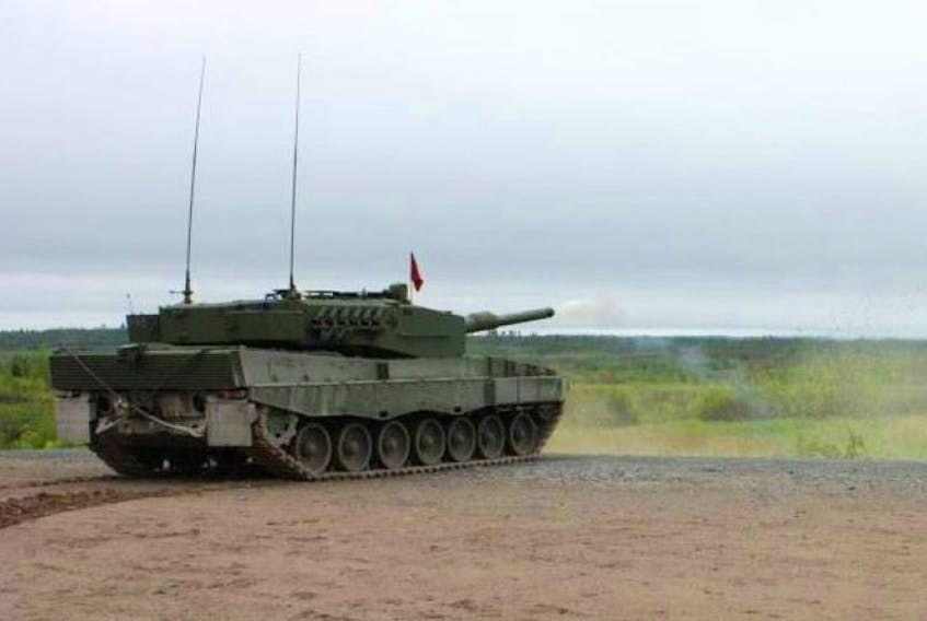 Pictured is a Leopard 2A4 Tank, similar to the one being considered for display at Victoria Park by Windsor Town Council.