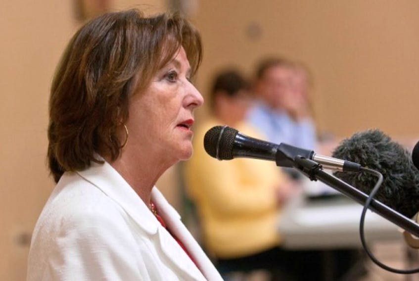 Education Minister Karen Casey speaks at the Halifax Forum about education changes May 20.