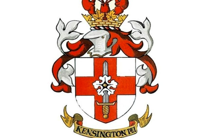 The town crest for the community of Kensington, in Prince County, Prince Edward island.