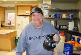 Dougie Greene of Kentville volunteers at Open Arms. Greene knows what it's like to live in poverty in the Annapolis Valley. KIRK STARRATT