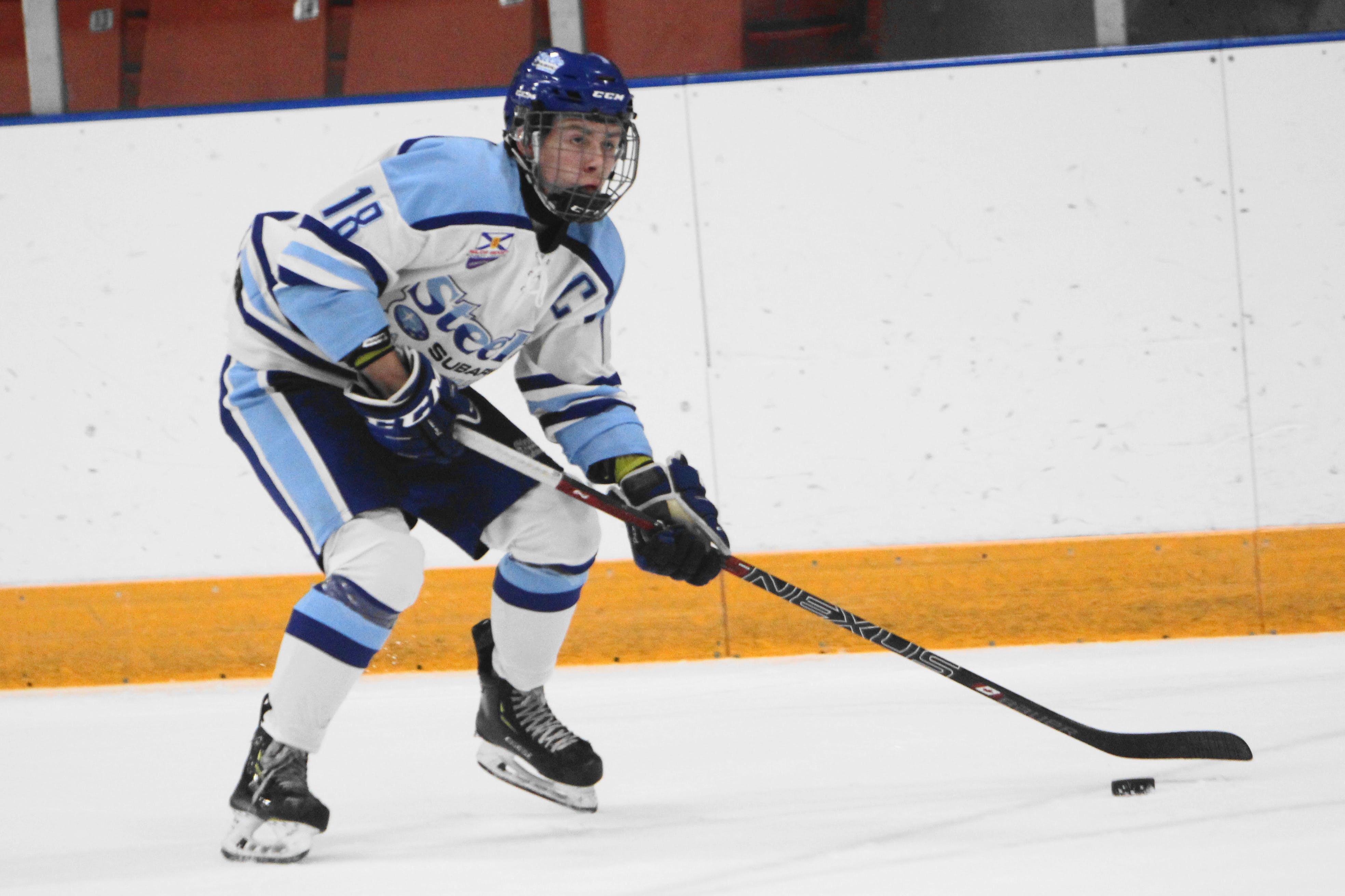 Captain   Kian Bell and his Steele Subaru  teammates are off to an incredible start to the Nova Scotia Under 18 Hockey League season. Bell shares the league lead in goals and points and Steele is atop the standings. Rob Bell