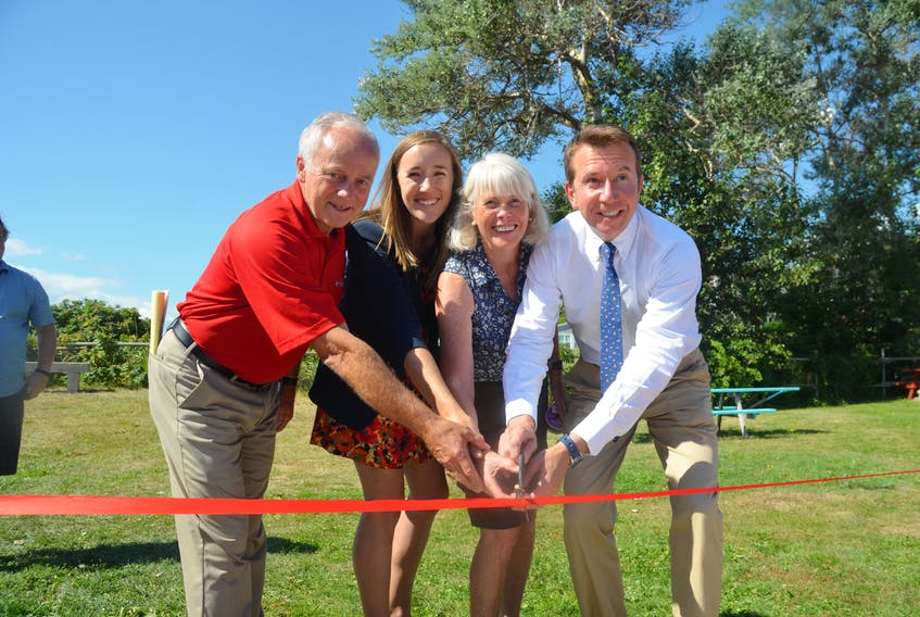 In September 2018, Kings West MLA and Communities, Culture and Heritage Minister Leo Glavine joined Kings County councillor Meg Hodges, Kingsport Community Association president Charlene MacLellan and Kings-Hants MP Scott Brison to cut a ribbon officially opening the Kingsport waterfront project improvements. FILE PHOTO