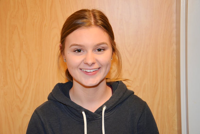 Madeline Moffatt has been selected as the Greco Pizza/Capt. Sub student-athlete of the month at Kinkora Regional High School (KRHS).