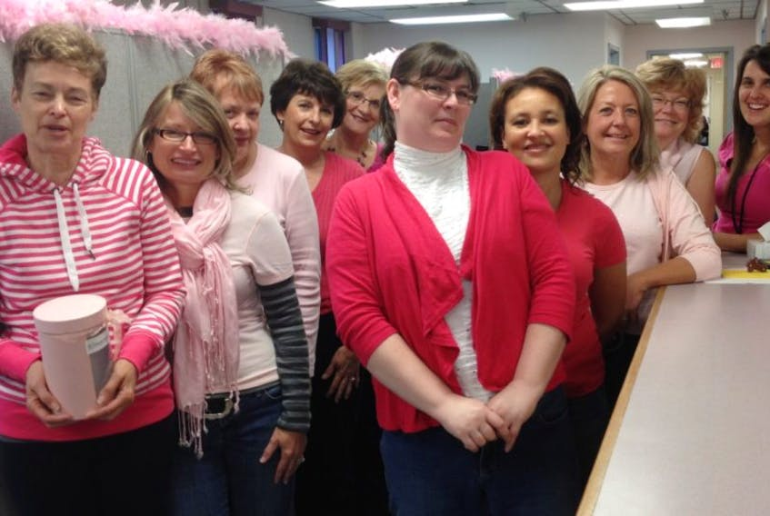 Staff at the Kentville Justice Centre dressed for the cause Oct. 24.