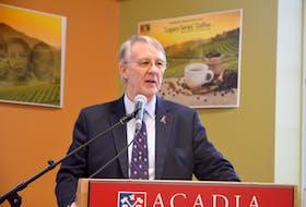 Acadia University President Dr. Peter Ricketts. - Kirk Starratt