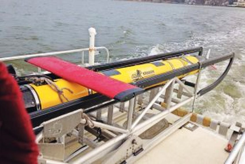 ['<p>Submitted photo<br />Kraken's KATFISH system uses MINSAS seabed mapping sonar during sea trials.</p>']