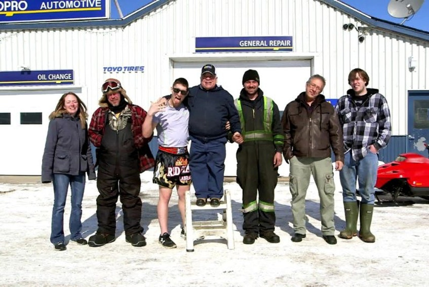 Last Stop Garage is an unscripted show that will take place in North West River. The show is in pre-production and is slated to start filming in March. The cast includes (from left) Amy Parsons, Ross Humby, Collin Baikie, Stanley Oliver, Corey Webber, Leander Baikie and Kyle Powell.