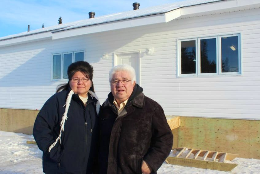 Pastor Felicia Linklater and her husband, Bishop Patrick Linklater, are happy that the new church they helped to build in Sheshatshiu — the New Creation Ministries Church — is finally ready for use. The Linklater's moved to Sheshatshiu from Regina, SK, where they lived for 30 years, to come to the community to serve the residents.