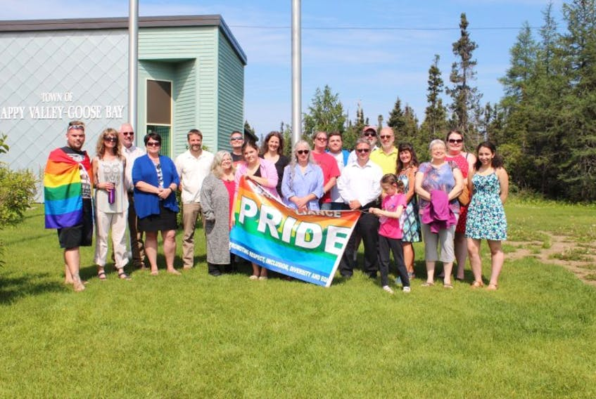 A small — but proud — crowd gathered at Happy Valley-Goose Bay Town Hall on Aug. 10 to kick off PRIDE week, with the annual flag raising on PRIDE Day. PRIDE Week celebrations took place Aug. 10-15.