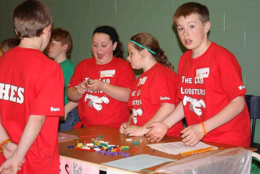 Bright young scientists from all over Shelburne County elementary schools gathered last week to compete in the Shelburne County Science Olympics hosted at Forest Ridge Academy.