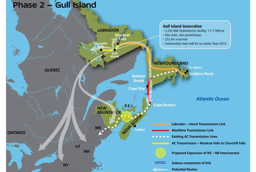 Phase 2 of the Lower Churchill project, Gull Island, is expected to get moving in the next few years. People in the area who are concerned about the impacts have started to organize to help fight it. - Courtesy of the Lower Churchill Hydroelectric Project EIA Review.
