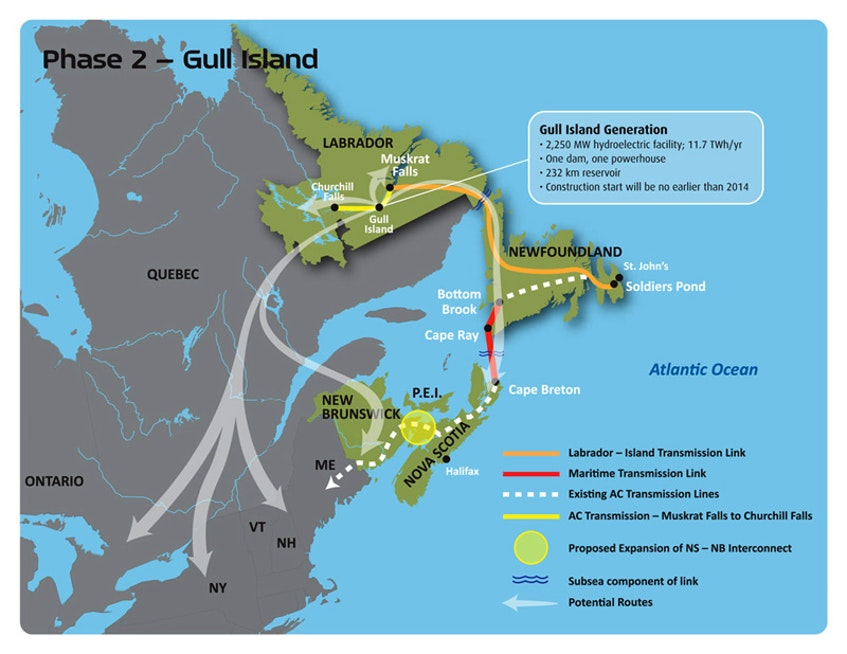 Phase 2 of the Lower Churchill project, Gull Island, is expected to get moving in the next few years. People in the area who are concerned about the impacts have started to organize to help fight it. - Courtesy of the Lower Churchill Hydroelectric Project EIA Review. - Contributed