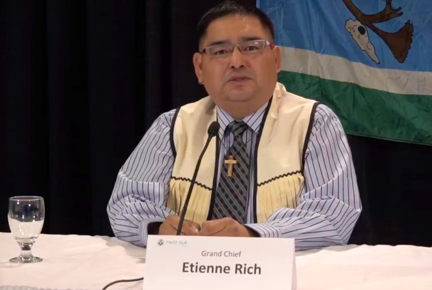 Innu Nation Grand Chief Etienne Rich said they tried for years to get Hydro-Québec to negotiate before launching the court action— Screengrab