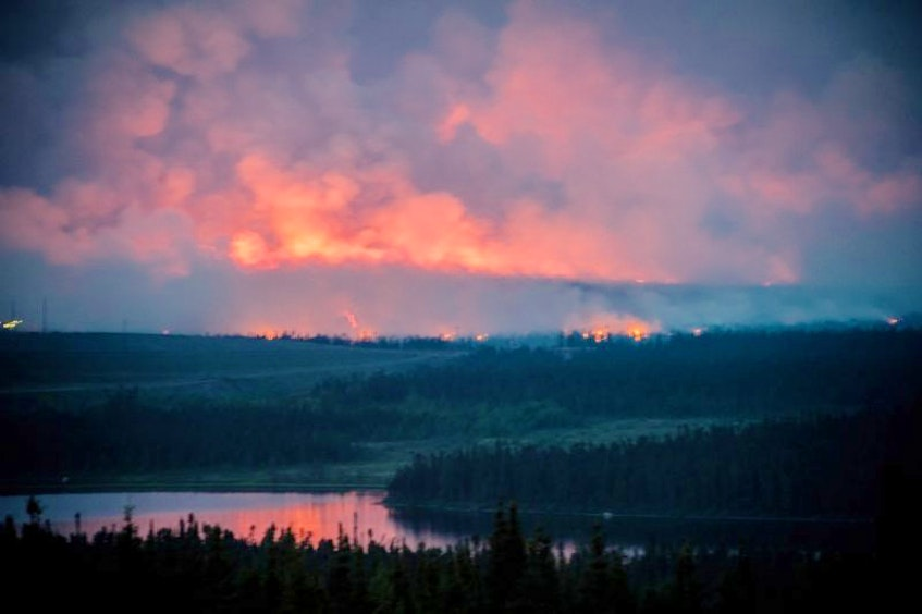 A forest fire in Labrador west. - SaltWire Network file photo
