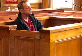 The Crown wants a five-year jail sentence for Leonard Clarke, seen here in court in St. John's Tuesday, for his role as a getaway driver in a 2017 drugstore robbery. Clarke's lawyer is arguing for a four-year prison term instead. TARA BRADBURY/THE TELEGRAM