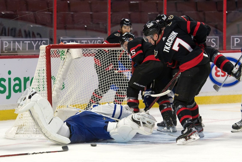 A poor night from goaltender Frederik Andersen and the defence cost the Toronto Maple Leafs on Friday.