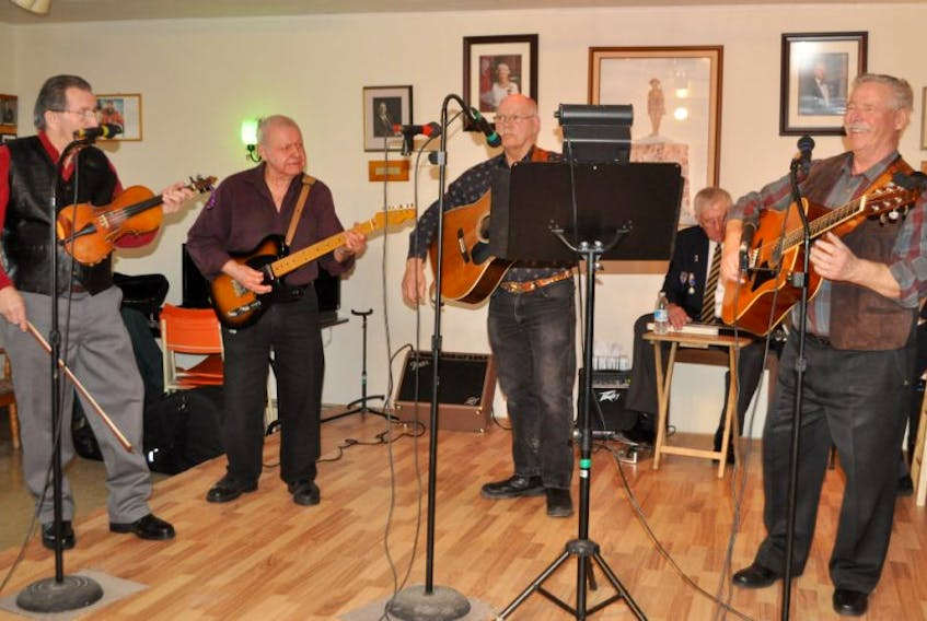 This group of local musicians performed for an appreciative audience at an open house at the C.B. Lumsden branch of the Royal Canadian Legion branch in Wolfville earlier this month.