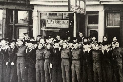 Ajax Hospitality Headquarters on Spring Garden Road, Halifax, 1943. - James McSwain, Nova Scotia Archives