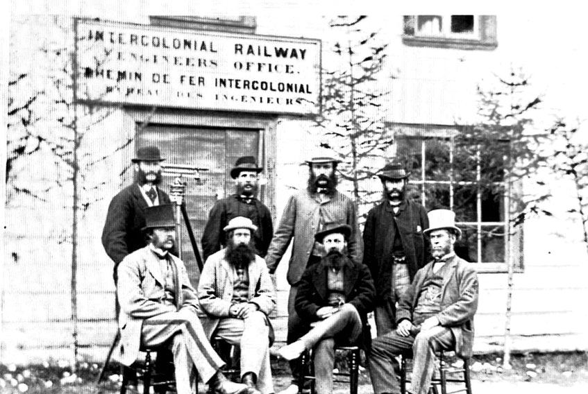 Intercolonial Railway Engineers and Surveyers, 1869 - Library and Archives Canada.