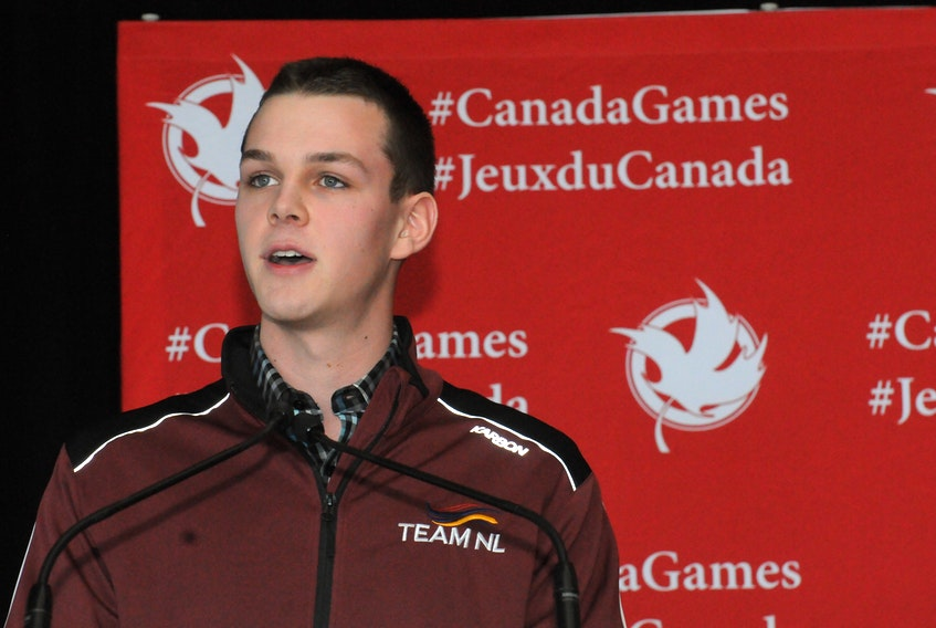Curler Nathan Young of Torbay, who won a gold medal at the recent World Youth Olympics and who skipped Newfoundland and Labrador's male entry in the 2019 Canada Winter Games curling competition, was one of the speakers Tuesday as the process for submission of St. John's bid to host the 2025 Canada Summer Games was announced at Confederation Building. — TheTelegram/Joe Gibbons