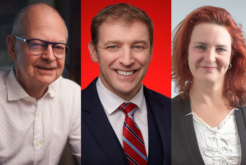 Provincial party leaders (from left) Ches Crosbie (PC), Premier Andrew Furey (Liberal) and Alison Coffin (NDP). - SaltWire Network file photos