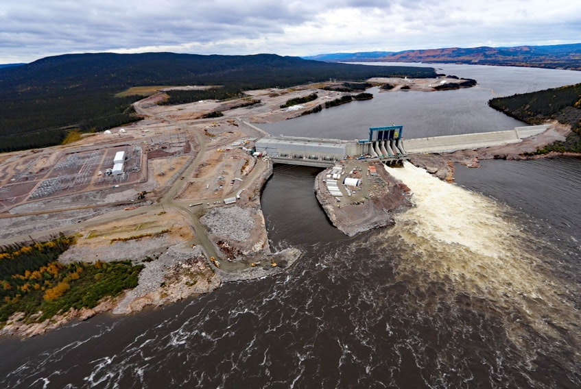 An aerial view of the Muskrat Falls site. — File photo