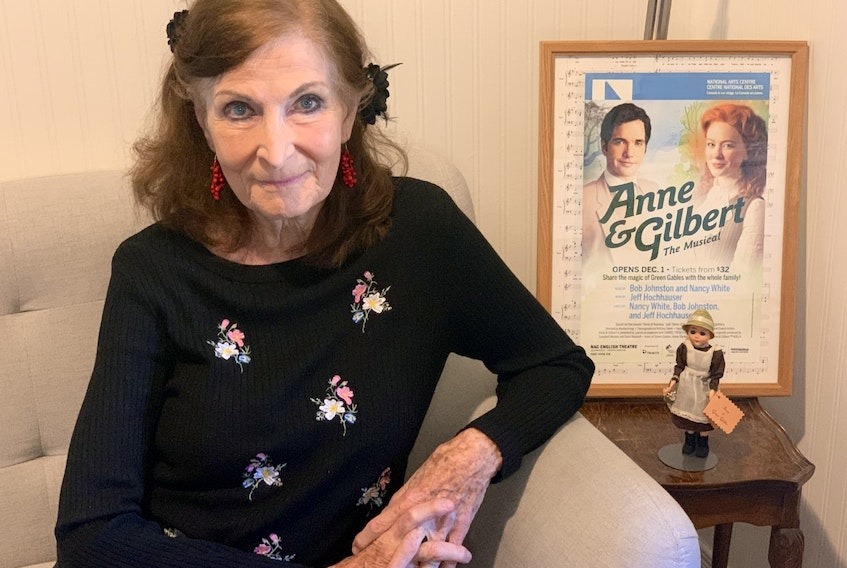 Nancy White is one of the writers (with Bob Johnston and Jeff Hochhauser) of the musical Anne and Gilbert, based on the Lucy Maud Montgomery books Anne of Avonlea and Anne of the Island. She has earned the 2021 Music P.E.I. Rooted to the Island award.