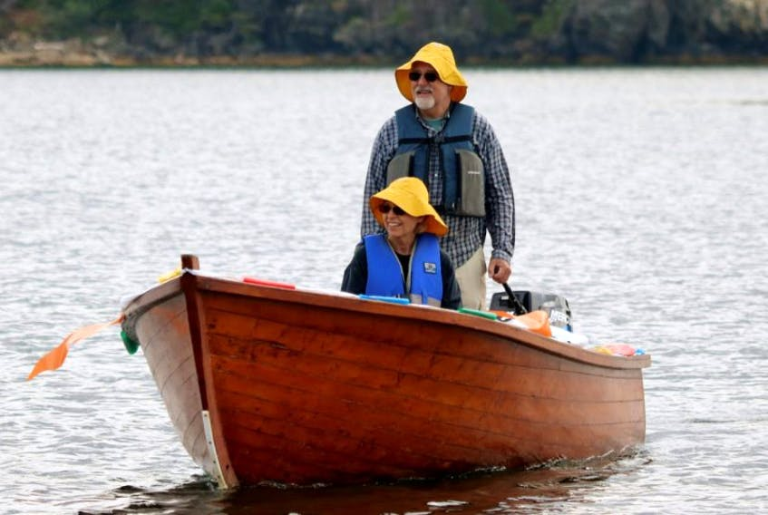 Gary and Terry Lostal manned the 'search and rescue boat' that towed in the dories that went astray.