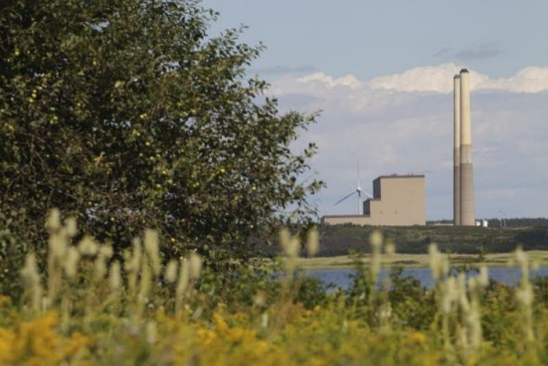 A view from Dominion shows the Nova Scotia Power generating station in Lingan. - SaltWire Network