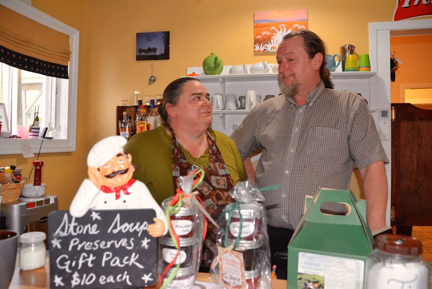 Camille Davidson and Barry Randle at their Pictou business, The Stone Soup Café and Catering.