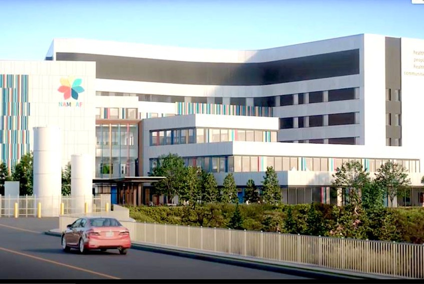 This screenshot is from a digital video outlining the design of the new adult mental-health and addictions hospital to be built in St. John's. — YouTube