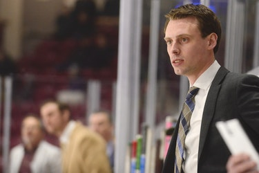 Grand Falls Rapids head coach Brad MacKenzie of Charlottetown.
