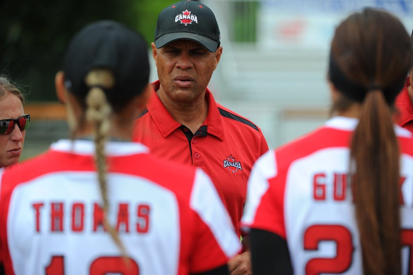 Canadian women's softball coach Mark Smith said he and his players learned many life lessons throughout their COVID-19 shutdown. Contributed - Contributed