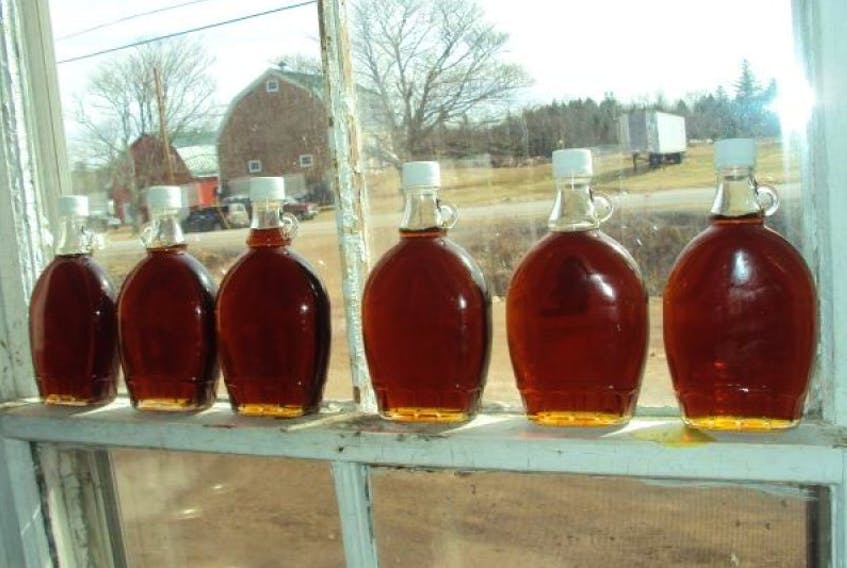 Hutchinson's Acres' maple syrup.
