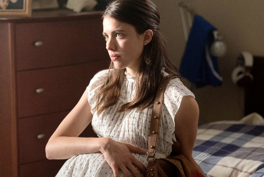 Margaret Qualley plays the pregnant Melissa in Strange But True. You'll never guess who the father is.