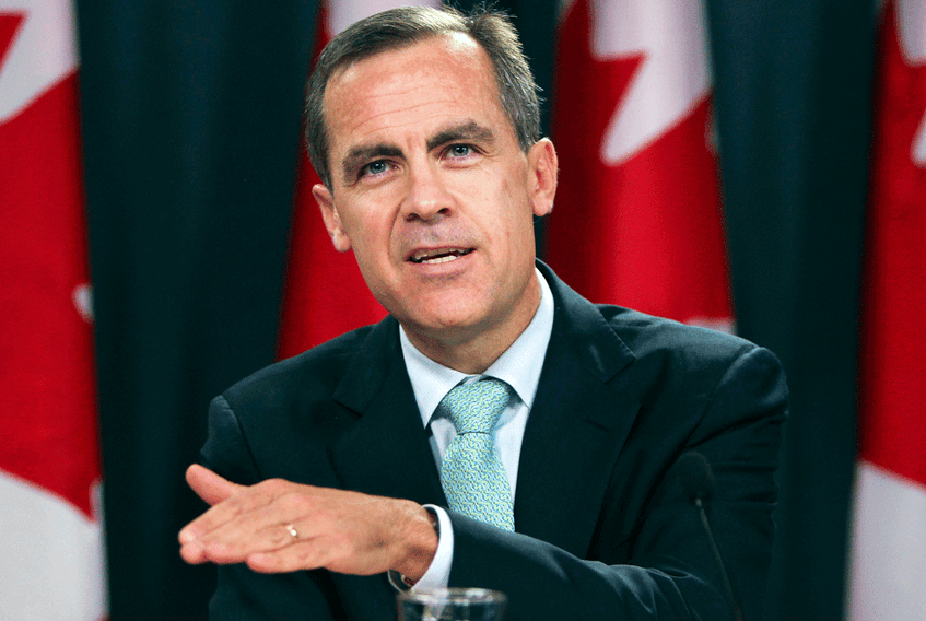 Mark Carney in 2010, during his time as governor of the Bank of Canada.