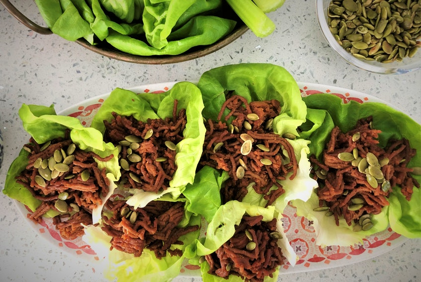 This variation of the classic Korean Bulgogi Beef is made from beefless  ground, a plant-based beef alternative. Photo: Mark DeWolf