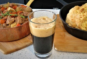 A pint of stout was the inspiration for Mark DeWolf's St. Patrick's Day-inspired recipes. Photo: Julia Web