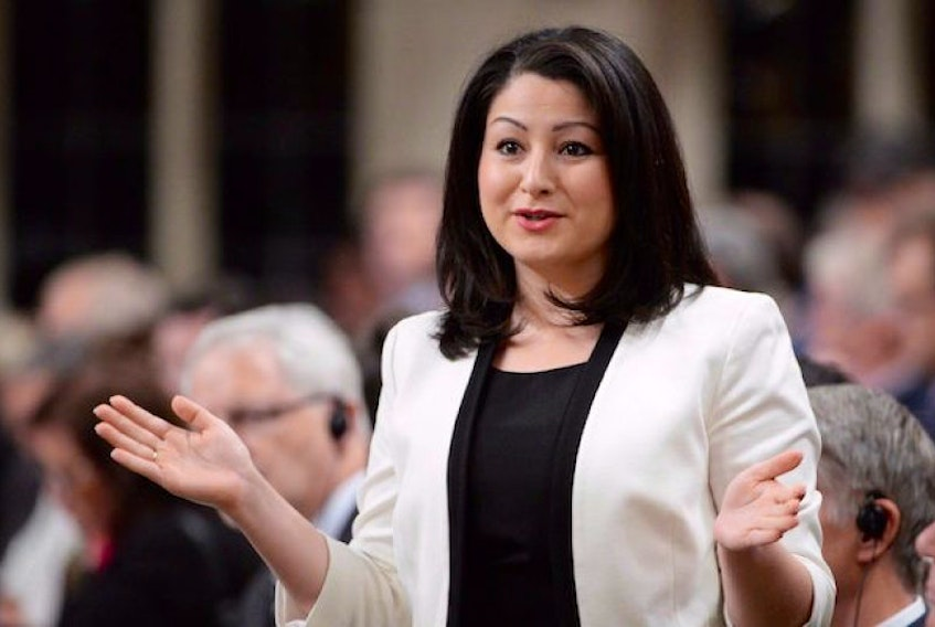 Democratic Institutions Minister Maryam Monsef answers a question during Question Period in the House of Commons on Parliament Hill in Ottawa on Tuesday, June 14, 2016. Monsef, widely touted as Canada's first Afghan-born cabinet minister, has issued a statement saying she only recently learned from her mother that she was in fact born in Iran.
