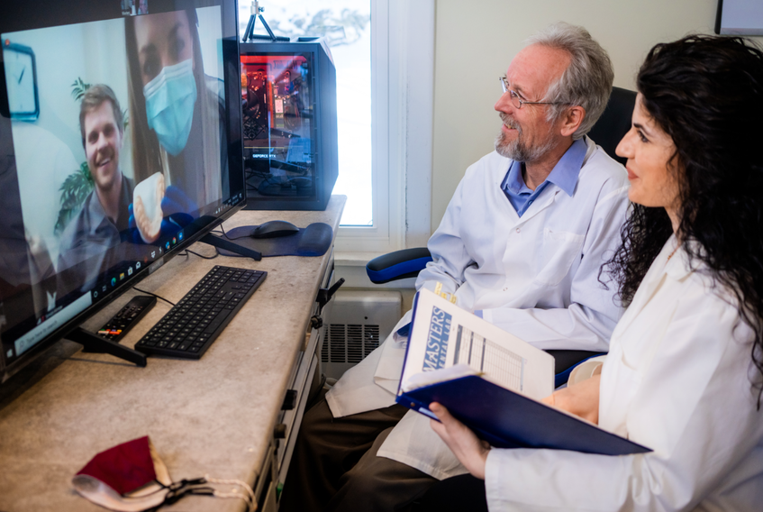 Through the power of virtual chairside consultants, Henry Hintze — the owner of Masters Dental Lab in Halifax — and his colleagues are able to assist dentists and patients all over the world. - Photo Contributed.