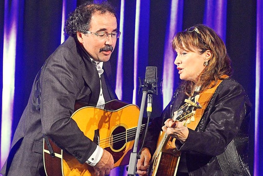 Serge Bernard and Janet McGarry lead off the Music P.E.i. May Run Music Festival on May 14, 2015.